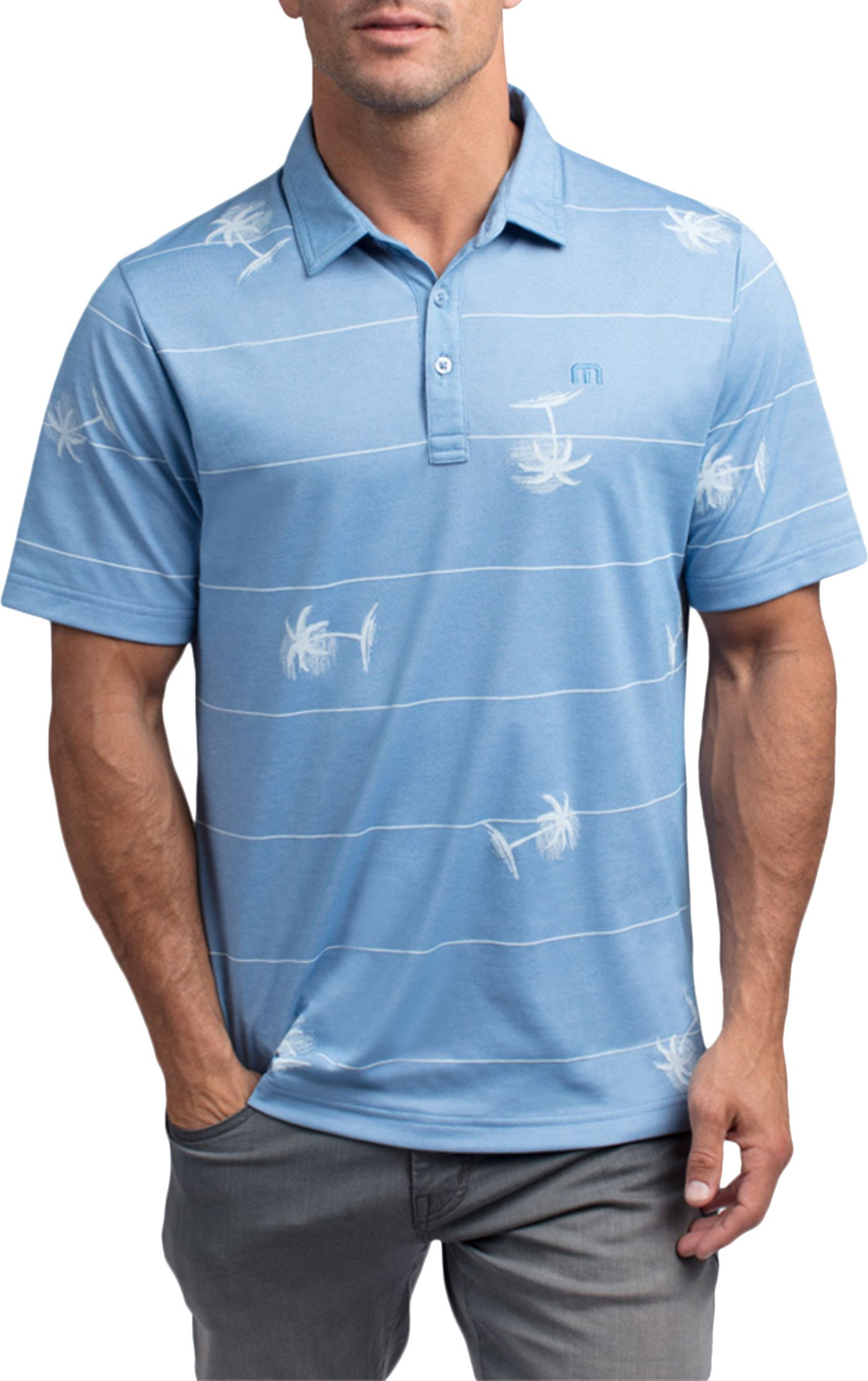 TravisMathew Men's Baumen Around Golf Polo