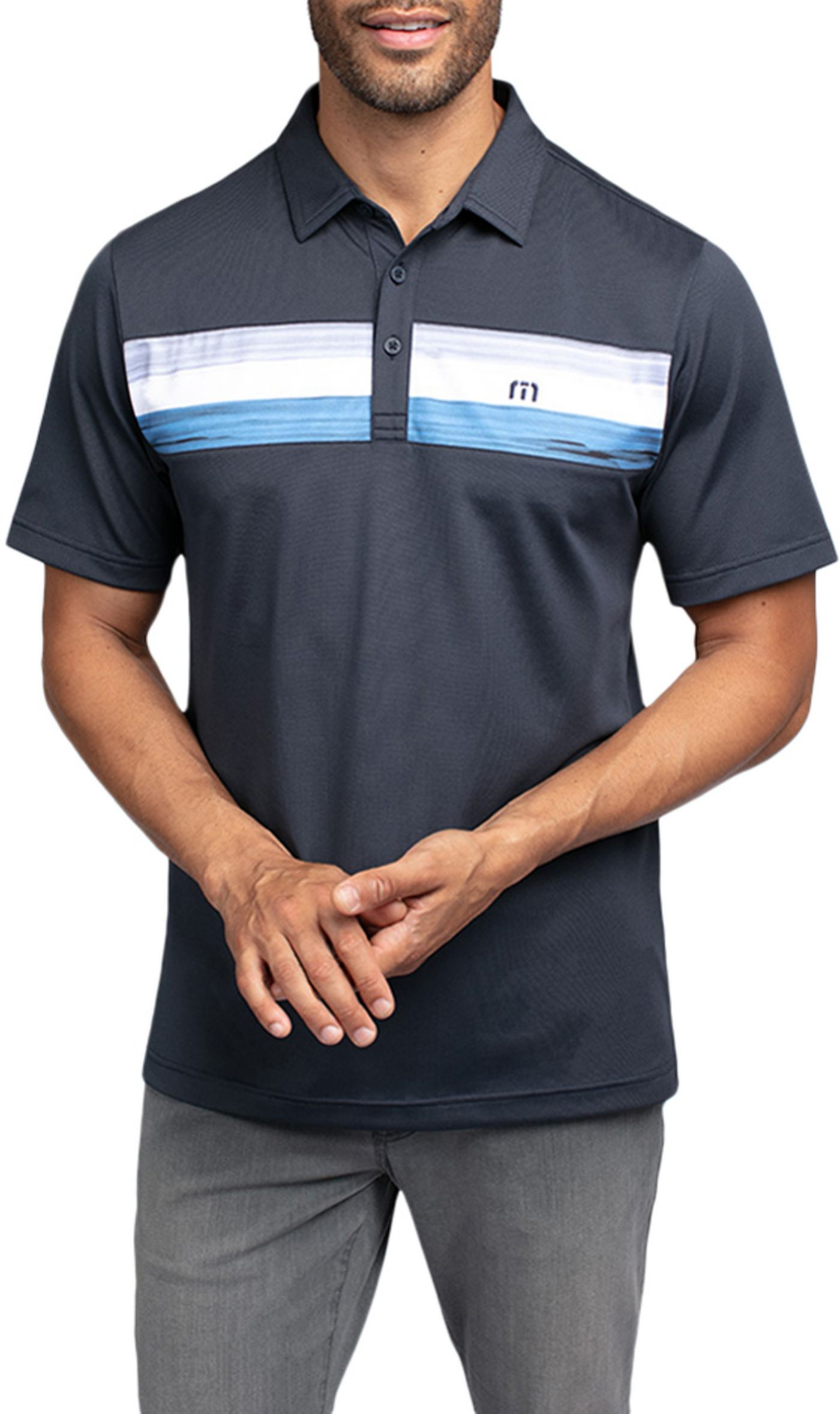 TravisMathew Men's Oh Life Golf Polo