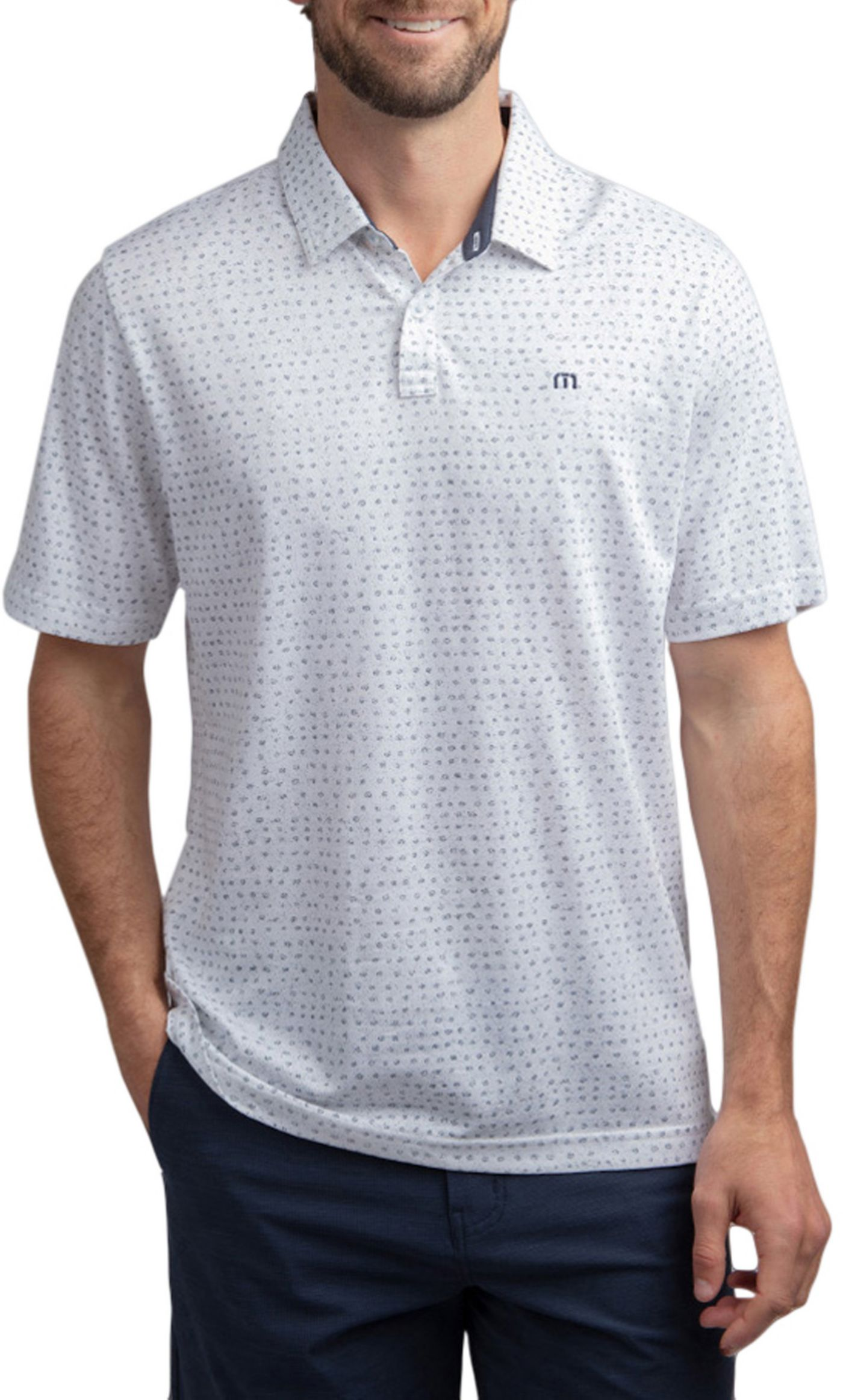 TravisMathew Men's Right Now Right Now Golf Polo
