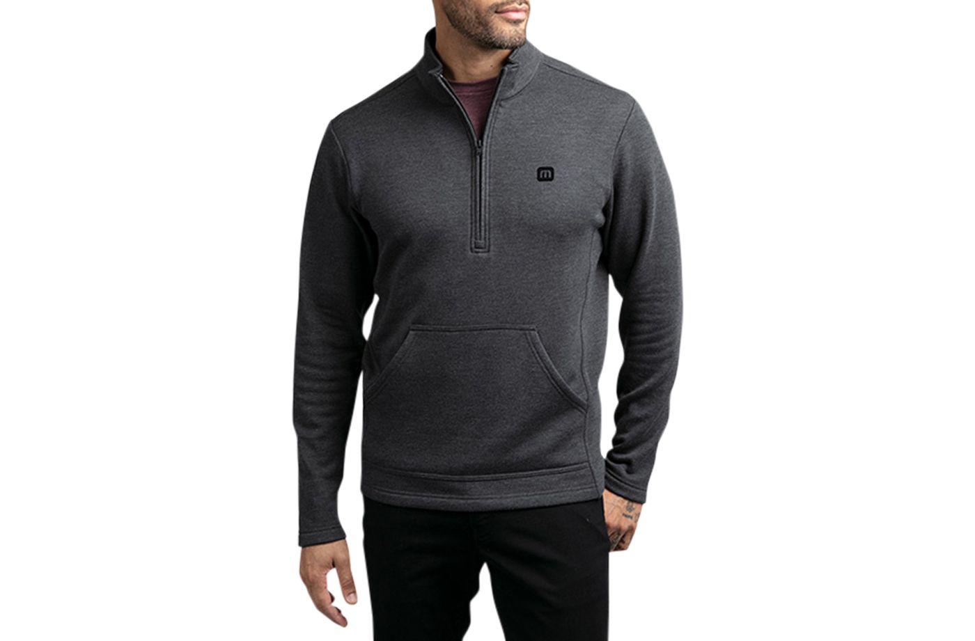 TravisMathew Men's That's The One ¼ Zip Golf Pullover