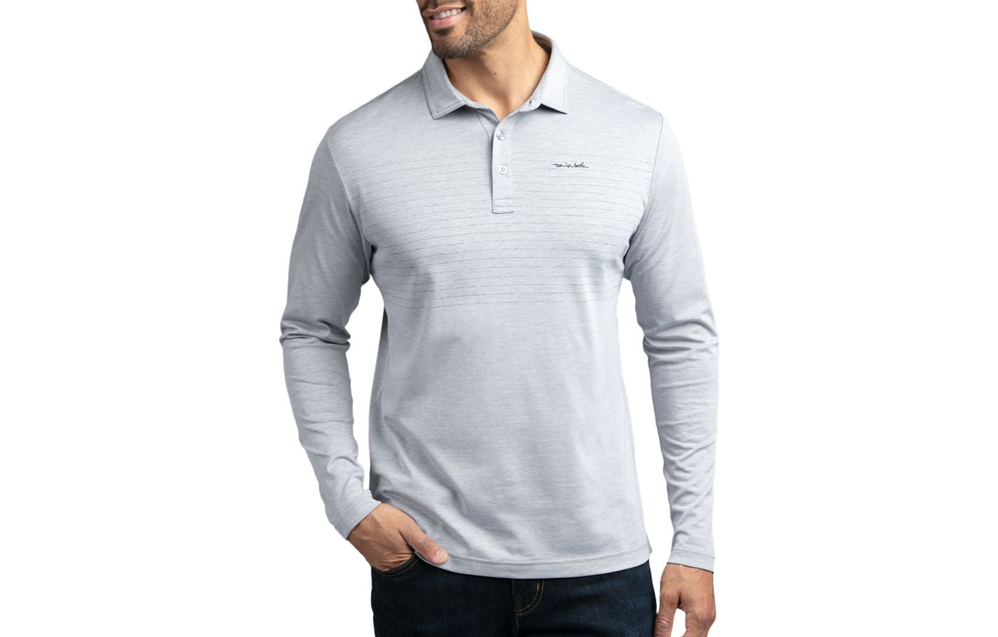 TravisMathew Men's Top Dog Long Sleeve Golf Polo
