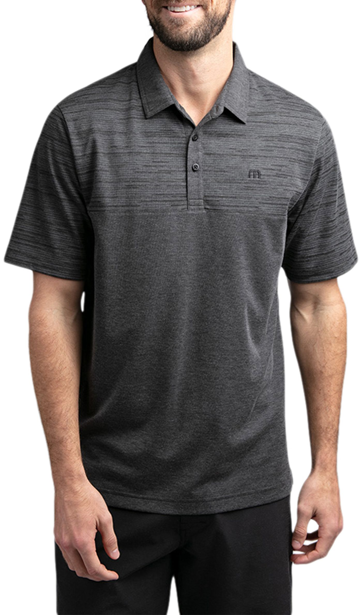 TravisMathew Men's Vinyl Golf Polo