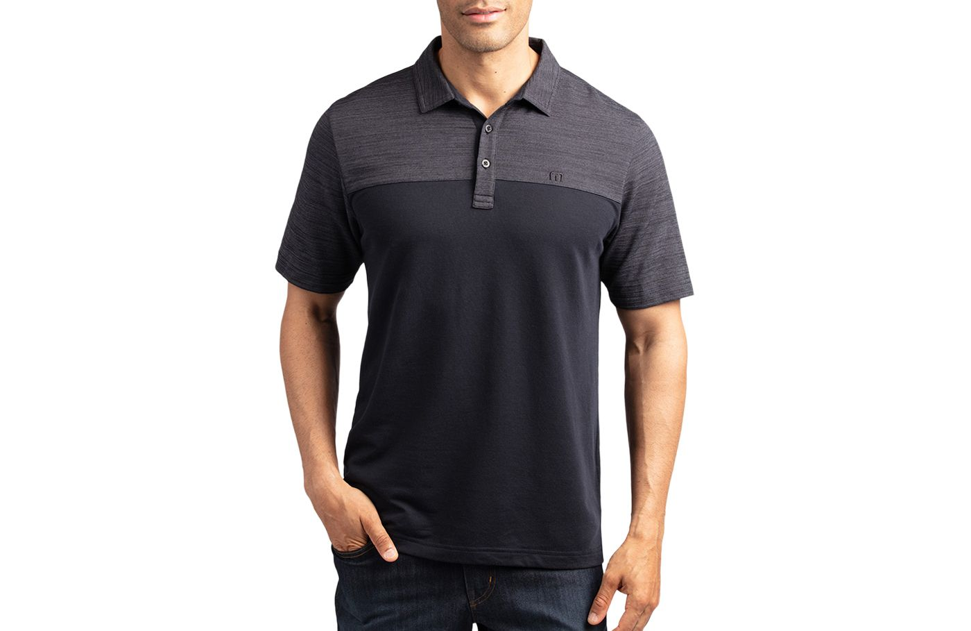 TravisMathew Men's Zip It Golf Polo