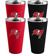 Memory Company Tampa Bay Buccaneers 4 Pack Drinkware Set