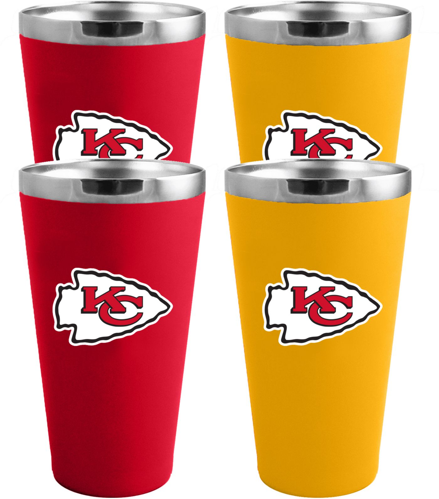 Memory Company Kansas City Chiefs 4 Pack Drinkware Set