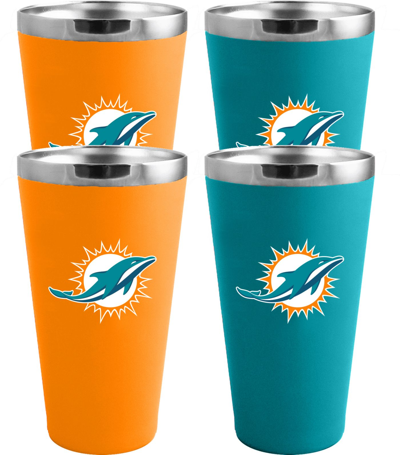 Memory Company Miami Dolphins 4 Pack Drinkware Set