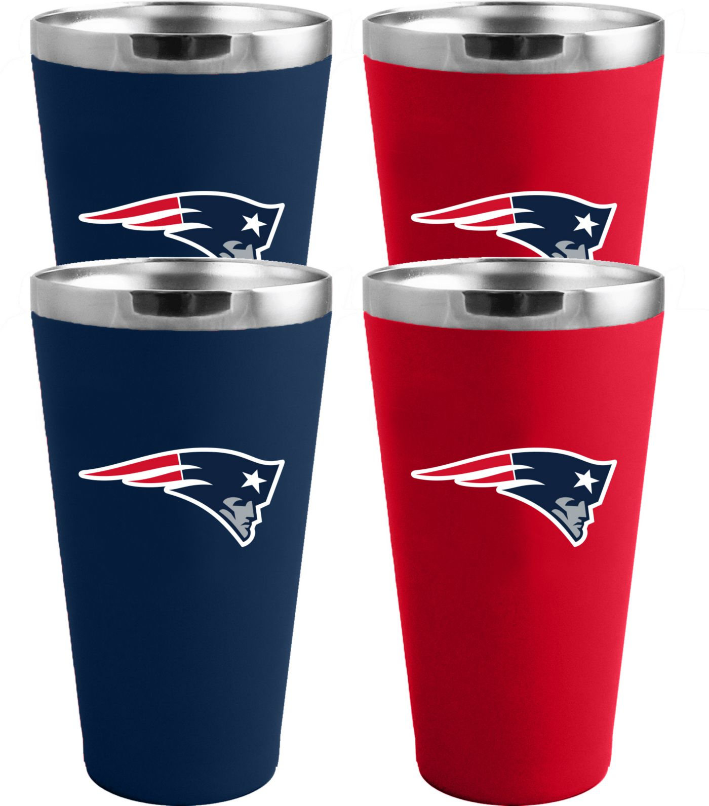 Memory Company New England Patriots 4 Pack Drinkware Set
