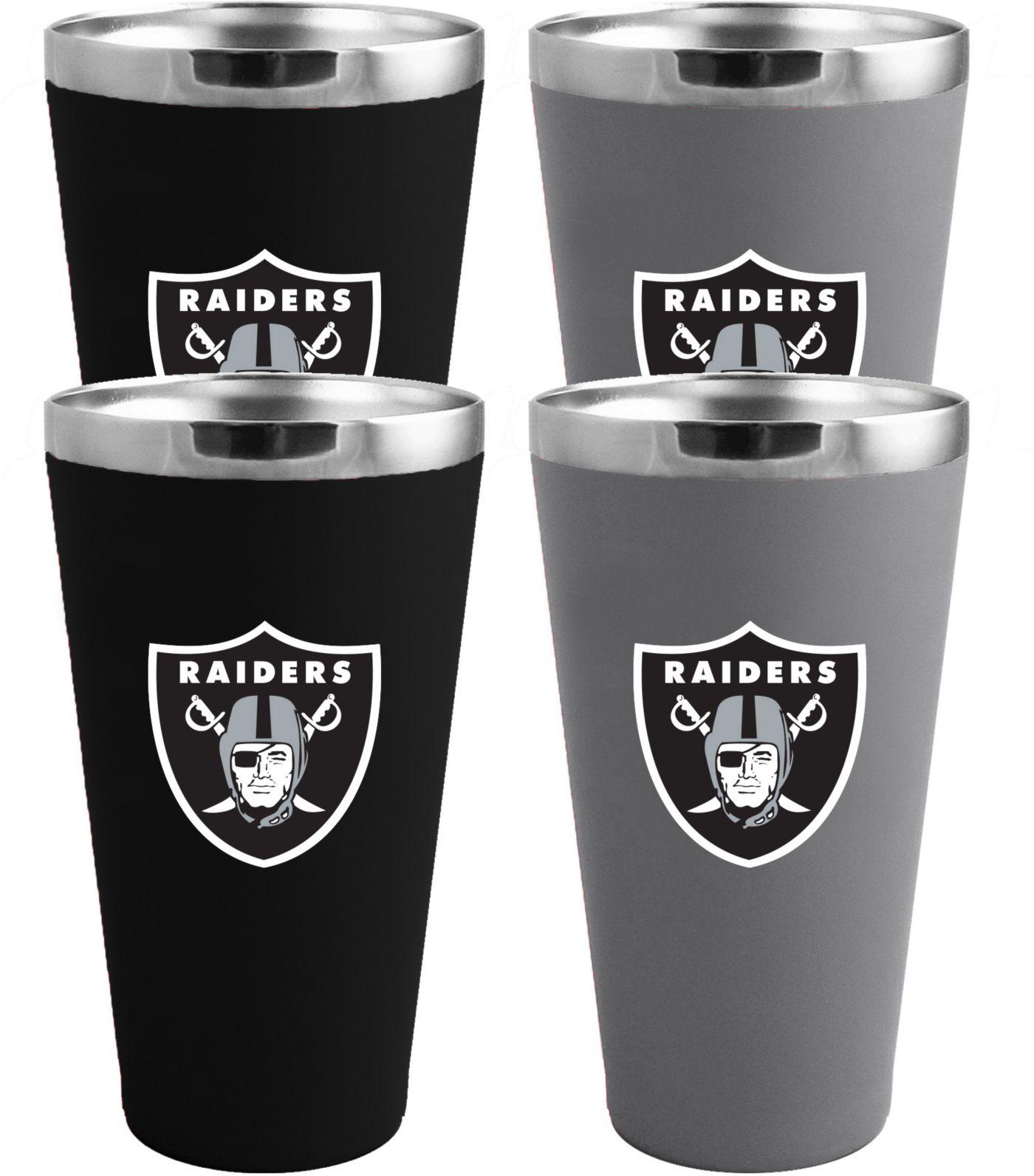 Memory Company Oakland Raiders 4 Pack Drinkware Set