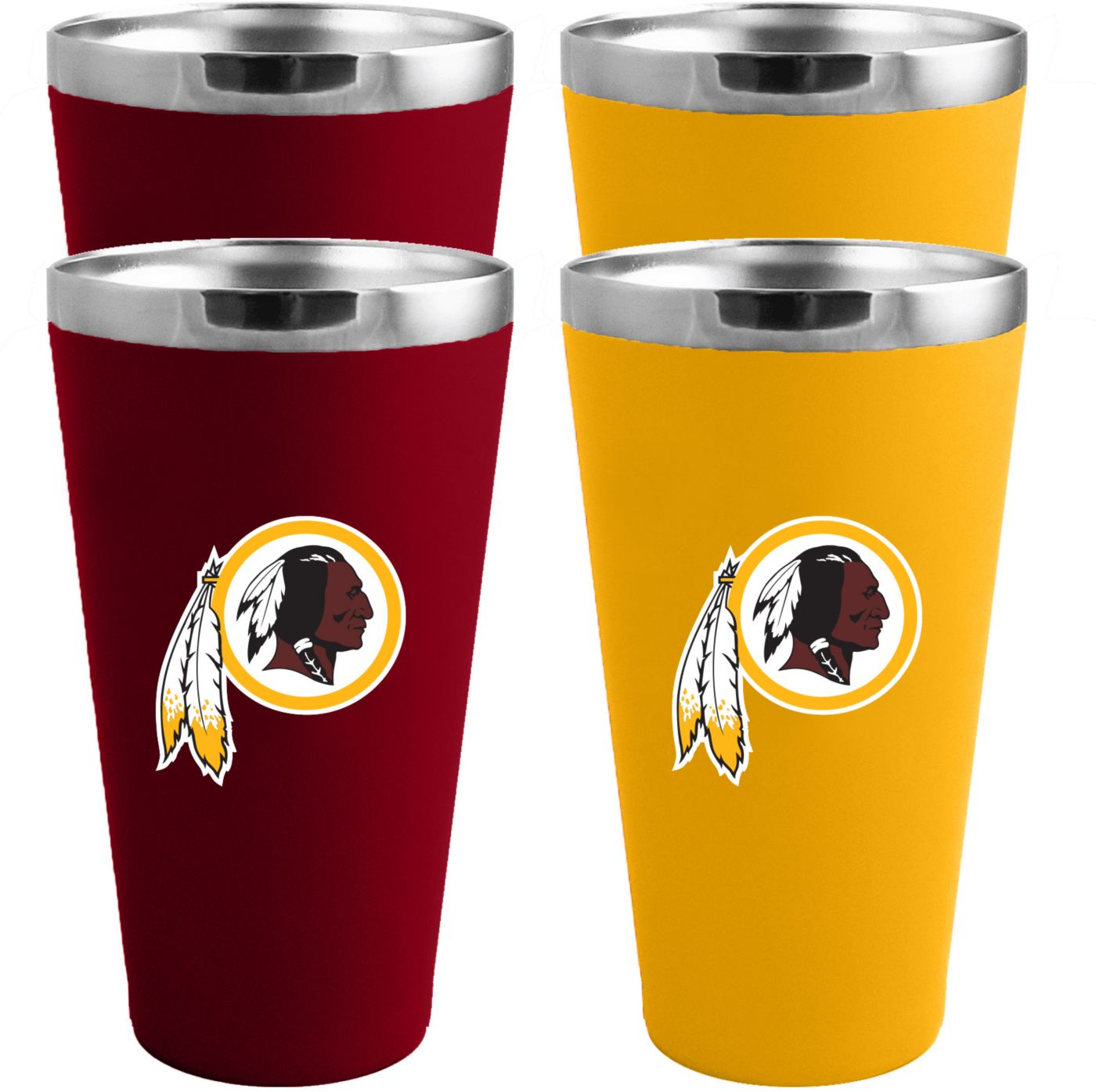Memory Company Washington Redskins 4 Pack Drinkware Set