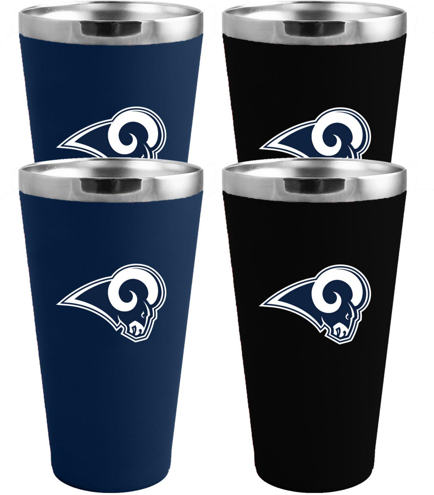 Memory Company Los Angeles Rams 4 Pack Drinkware Set