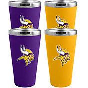 Memory Company Minnesota Vikings 4 Pack Drinkware Set