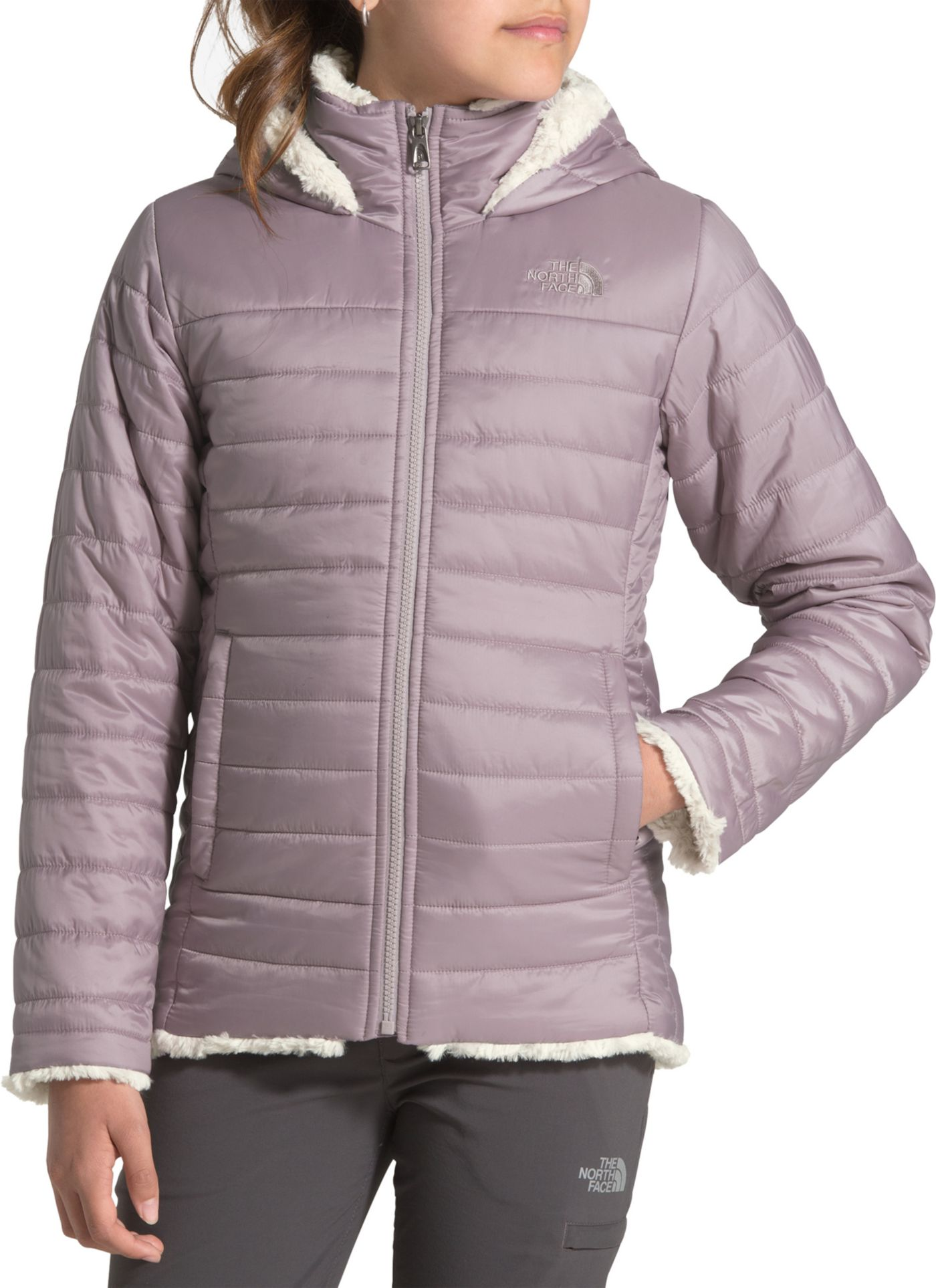 The North Face Girls' Reversible Mossbud Swirl Insulated Parka