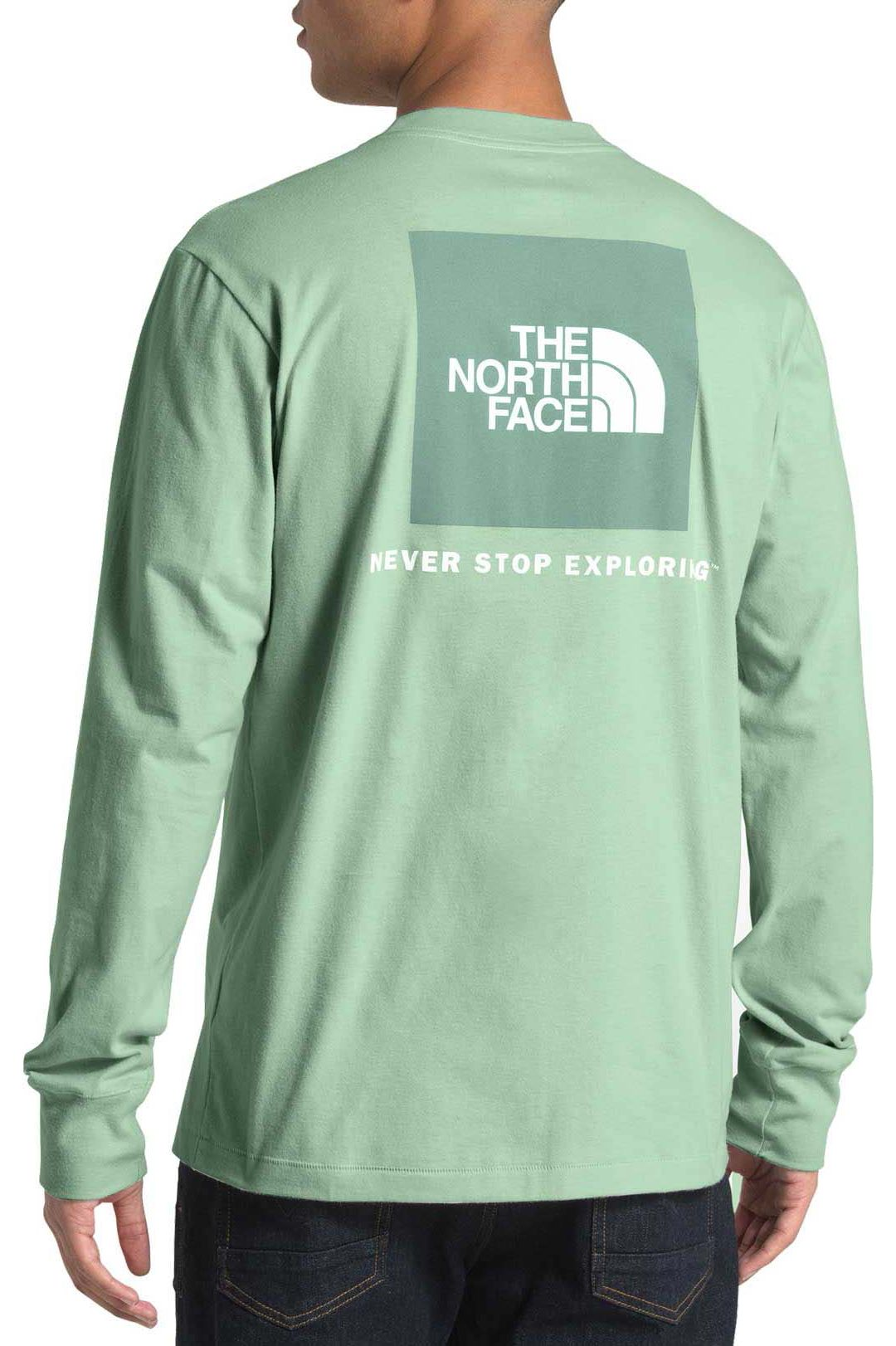 742a35866 The North Face Men's Long Sleeve Red Box Fashion T-Shirt