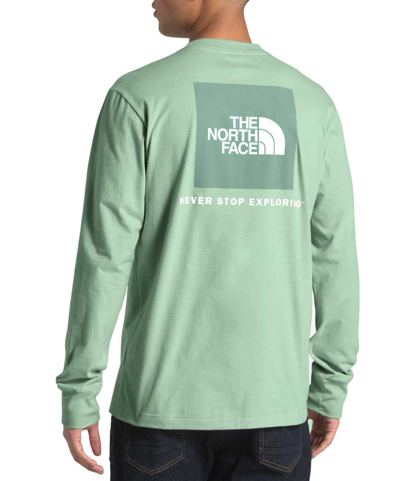 The North Face Men's Long Sleeve Red Box Fashion T-Shirt
