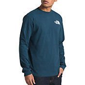 The North Face Men's Long Sleeve Red Box T-Shirt