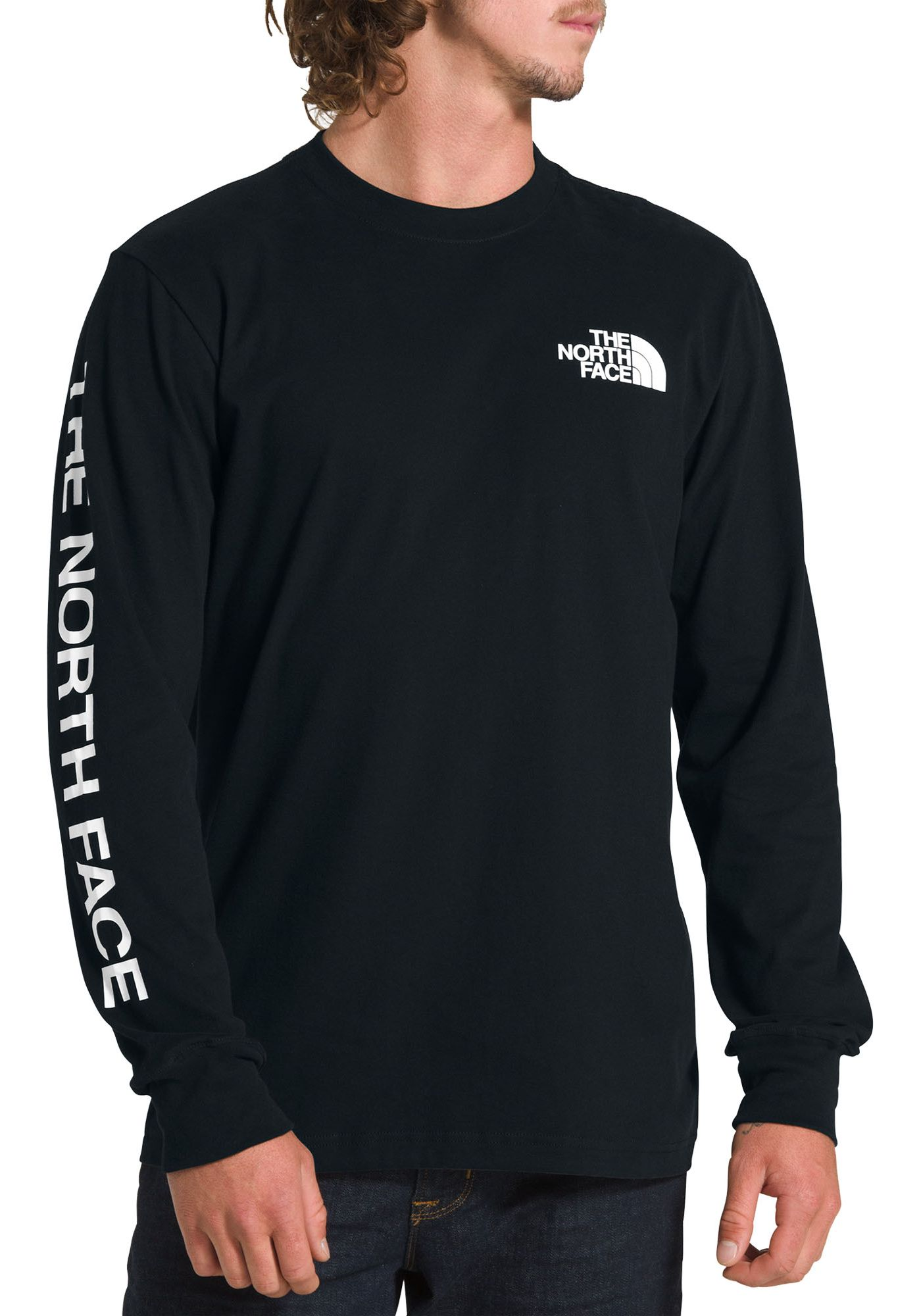 The North Face Men's Long Sleeve Brand Proud Cotton T-Shirt