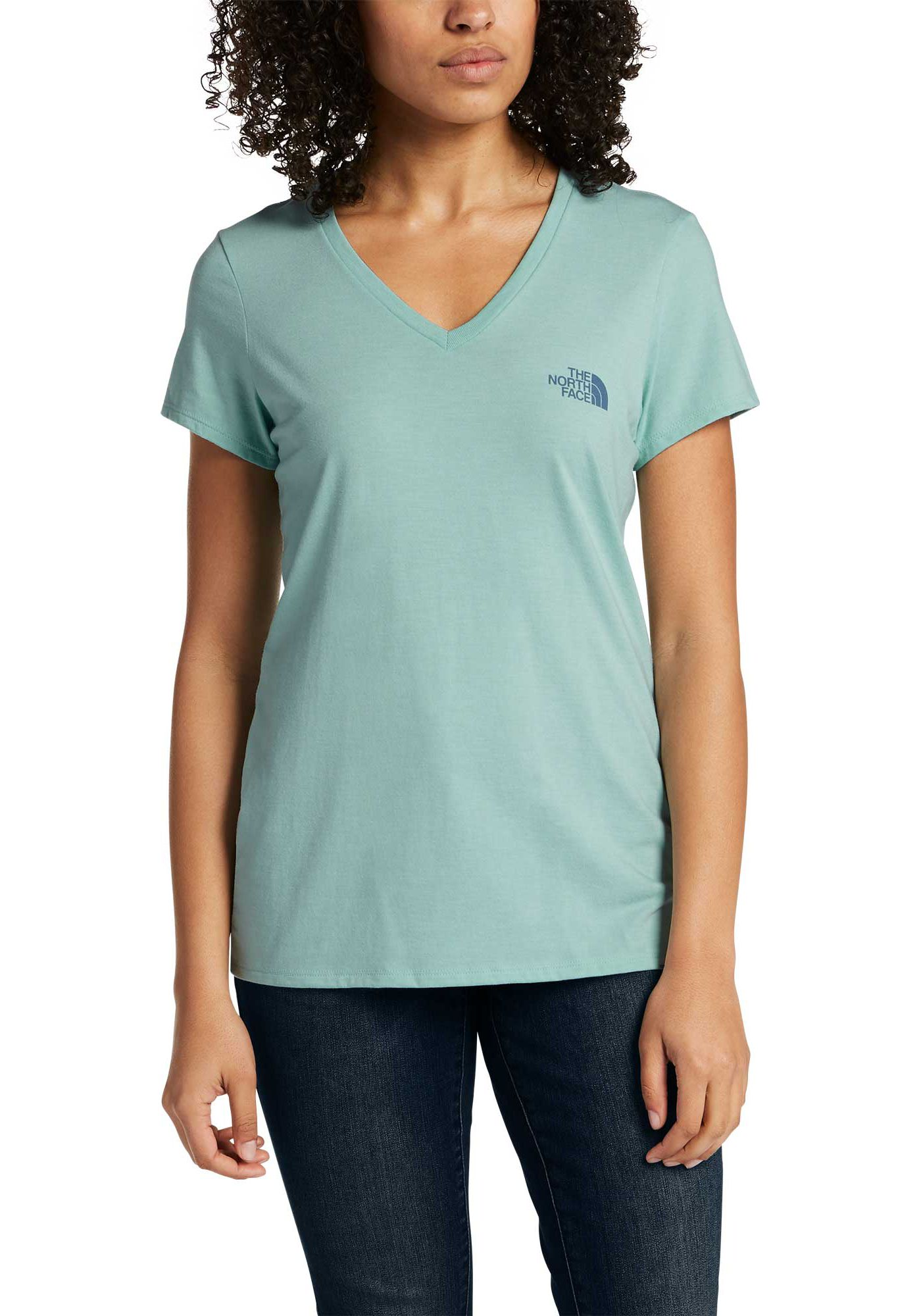 The North Face Women's Short Sleeve Brand Proud Tri-Blend V-Neck Shirt