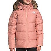FOURSTEEDS Girls Puffy Fleece Coat Long Sleeve Zipper Up Pockets Winter Jacket Outwear