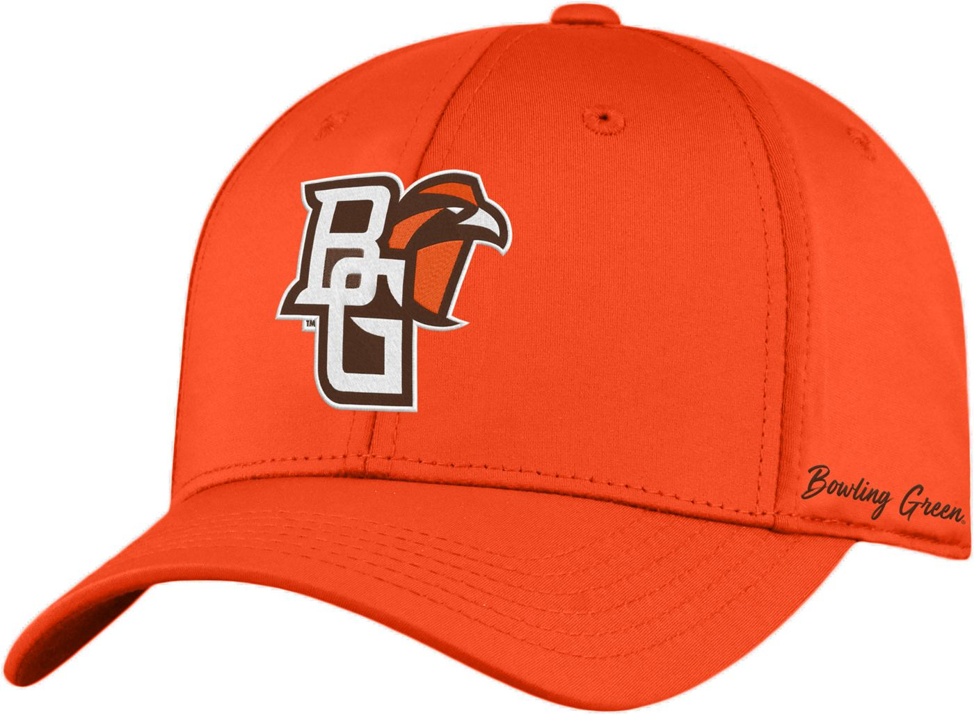 Top of the World Men's Bowling Green Falcons Orange Phenom 1Fit Flex Hat