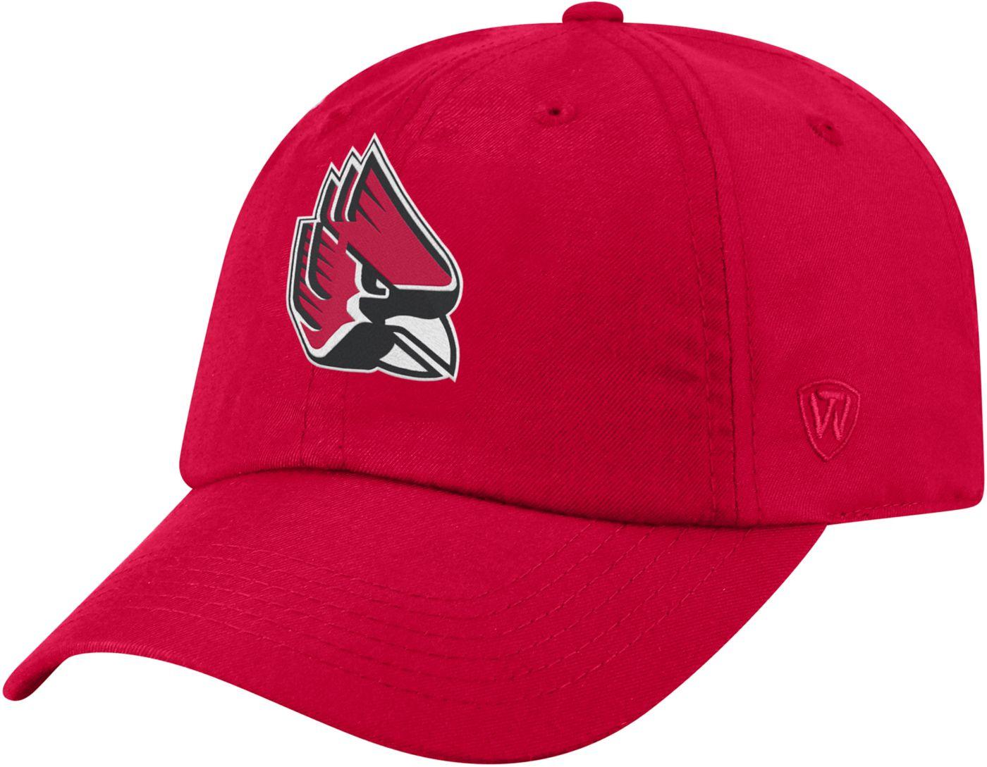 Top of the World Men's Ball State Cardinals Cardinal Staple Adjustable Hat