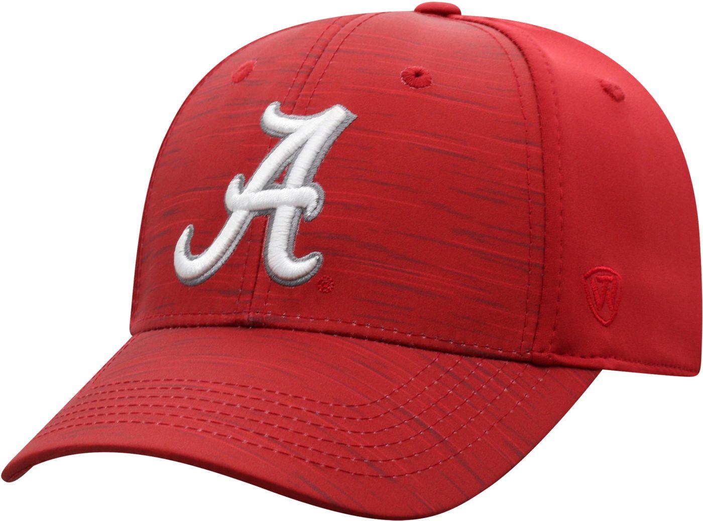 Top of the World Men's Alabama Crimson Tide Crimson Intrude 1Fit Flex Hat