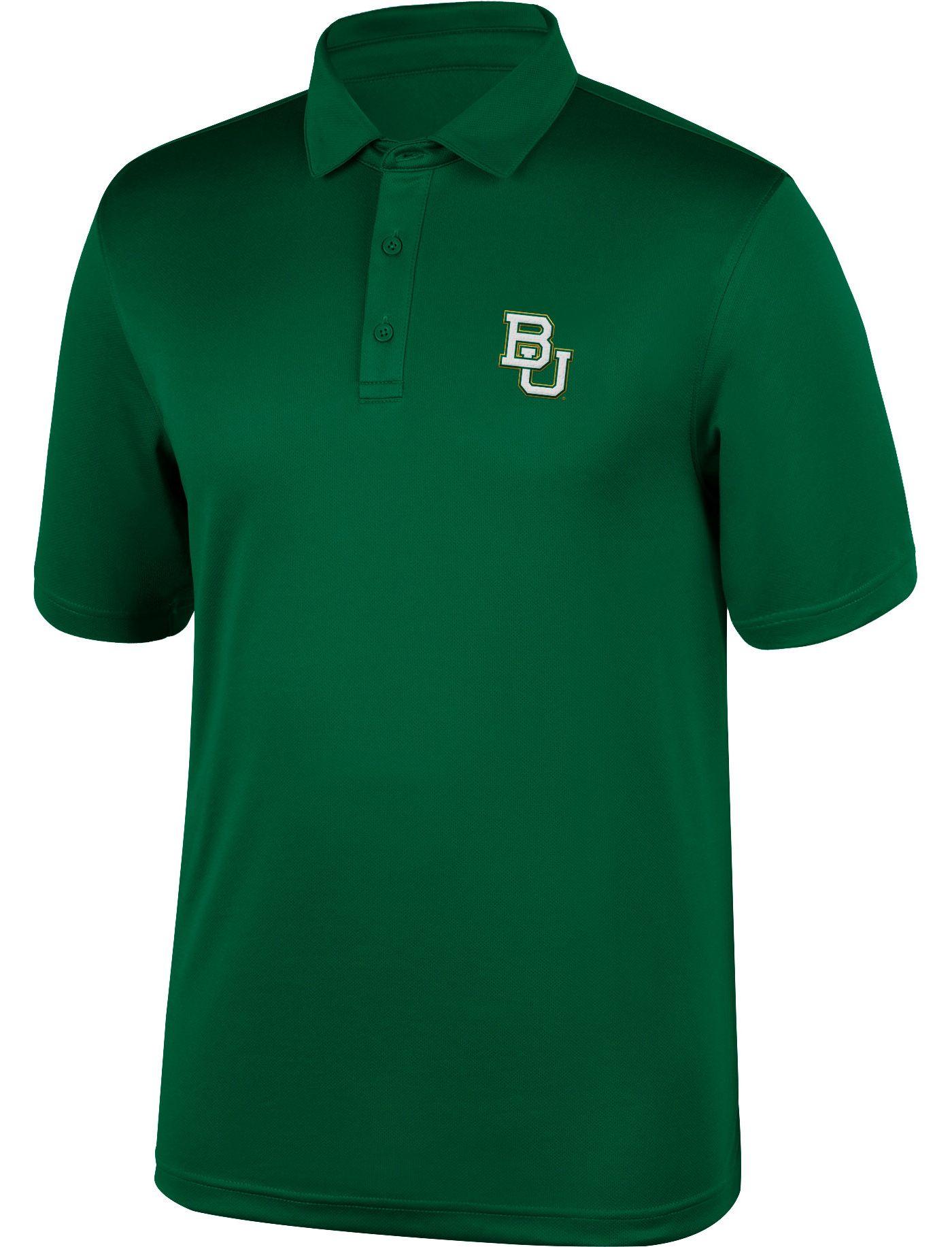 Top of the World Men's Baylor Bears Green Polo