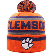 Top of the World Men's Clemson Tigers Orange Buddy Cuffed Pom Knit Beanie