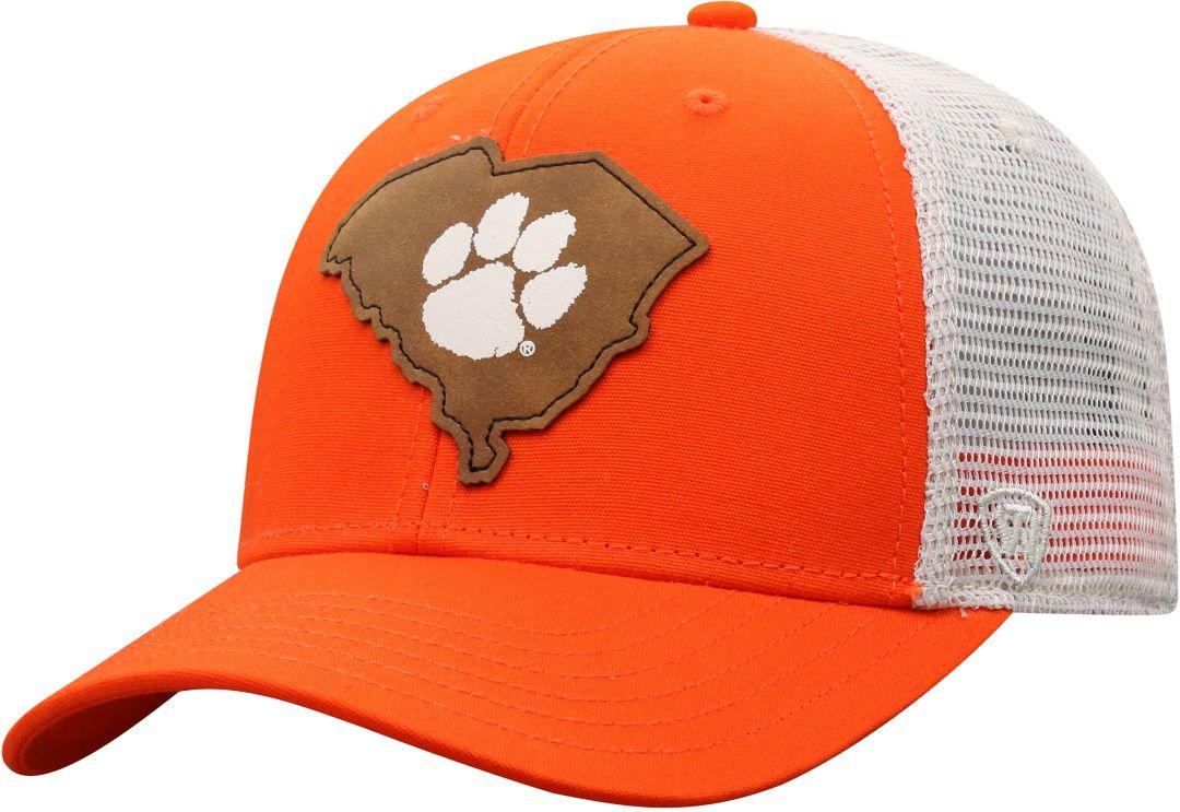 fa1540af Top of the World Men's Clemson Tigers Orange/Grey Precise Trucker  Adjustable Hat