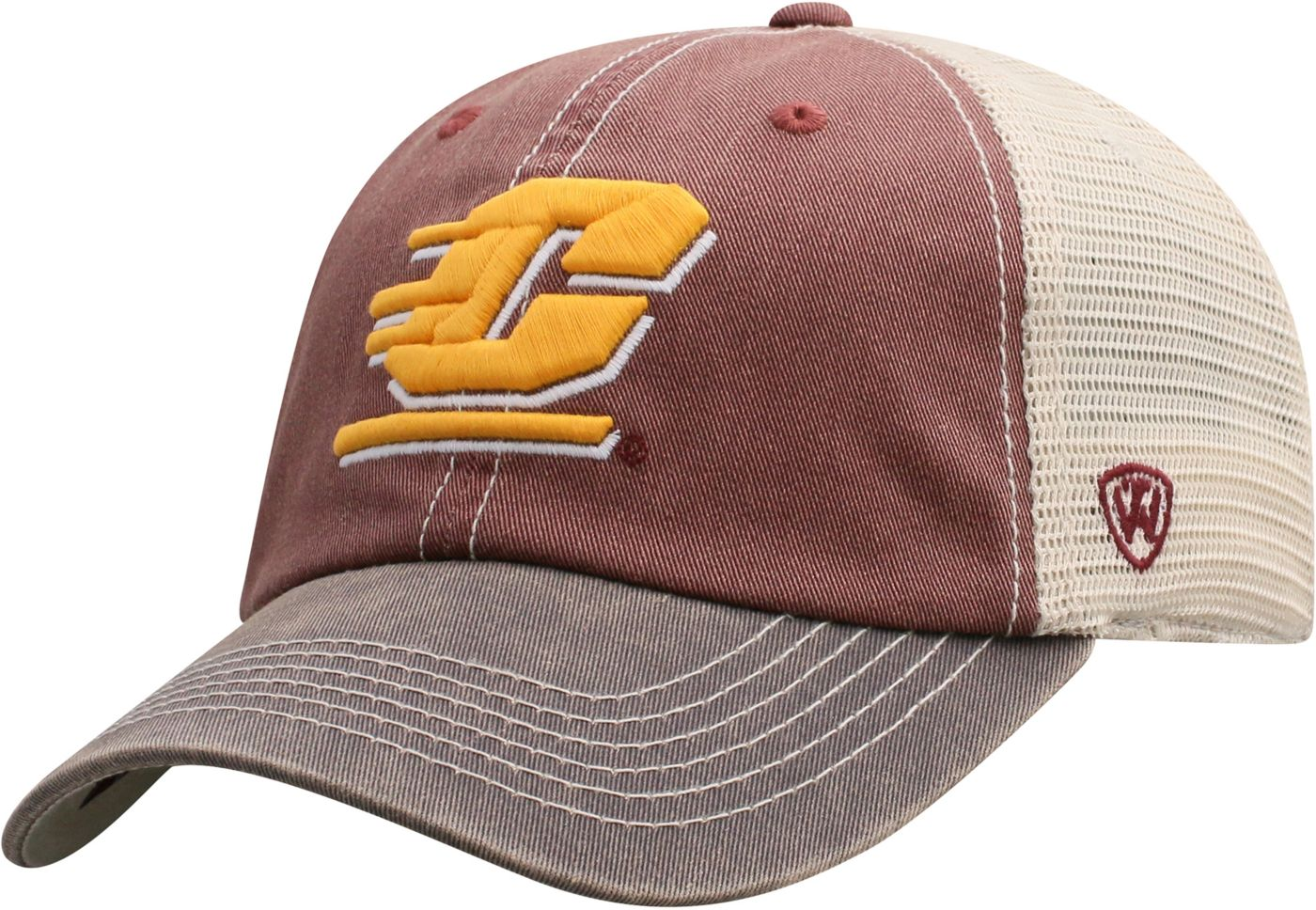 Top of the World Men's Central Michigan Chippewas Maroon/White Off Road Adjustable Hat