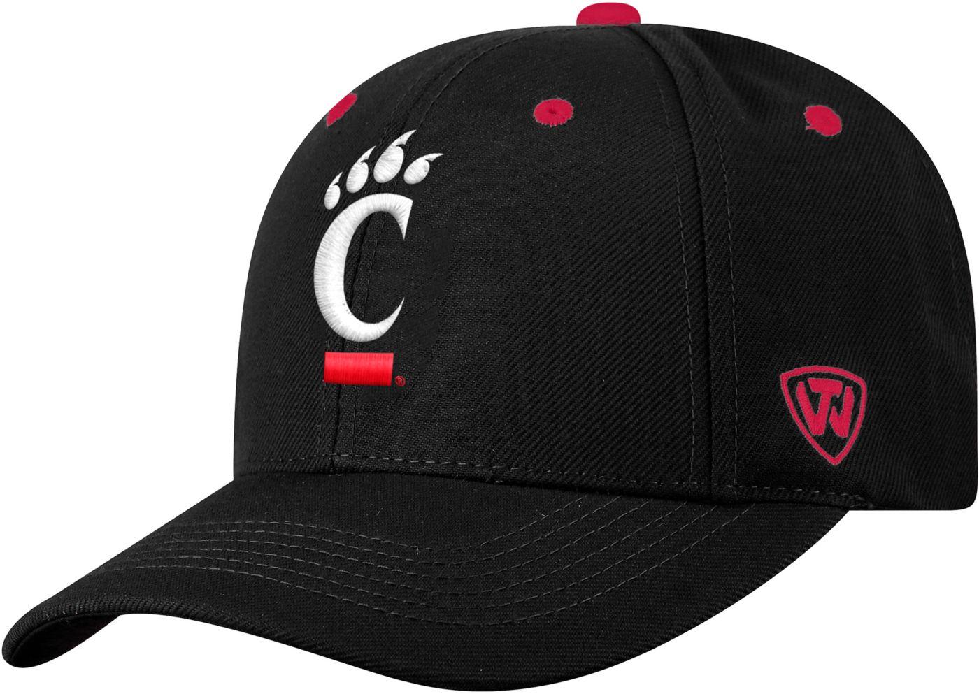 Top of the World Men's Cincinnati Bearcats Triple Threat Adjustable Black Hat
