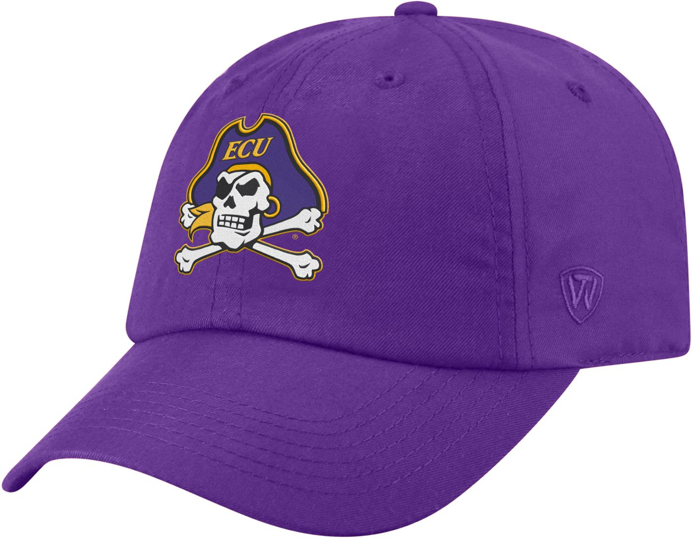 Top of the World Men's East Carolina Pirates Purple Staple Adjustable Hat