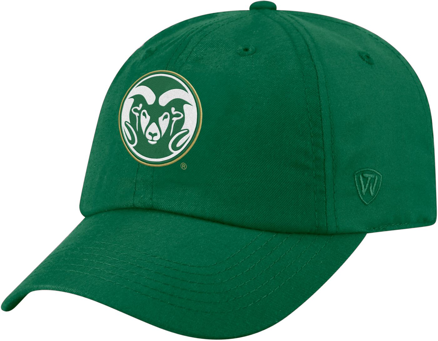 Top of the World Men's Colorado State Rams Green Staple Adjustable Hat