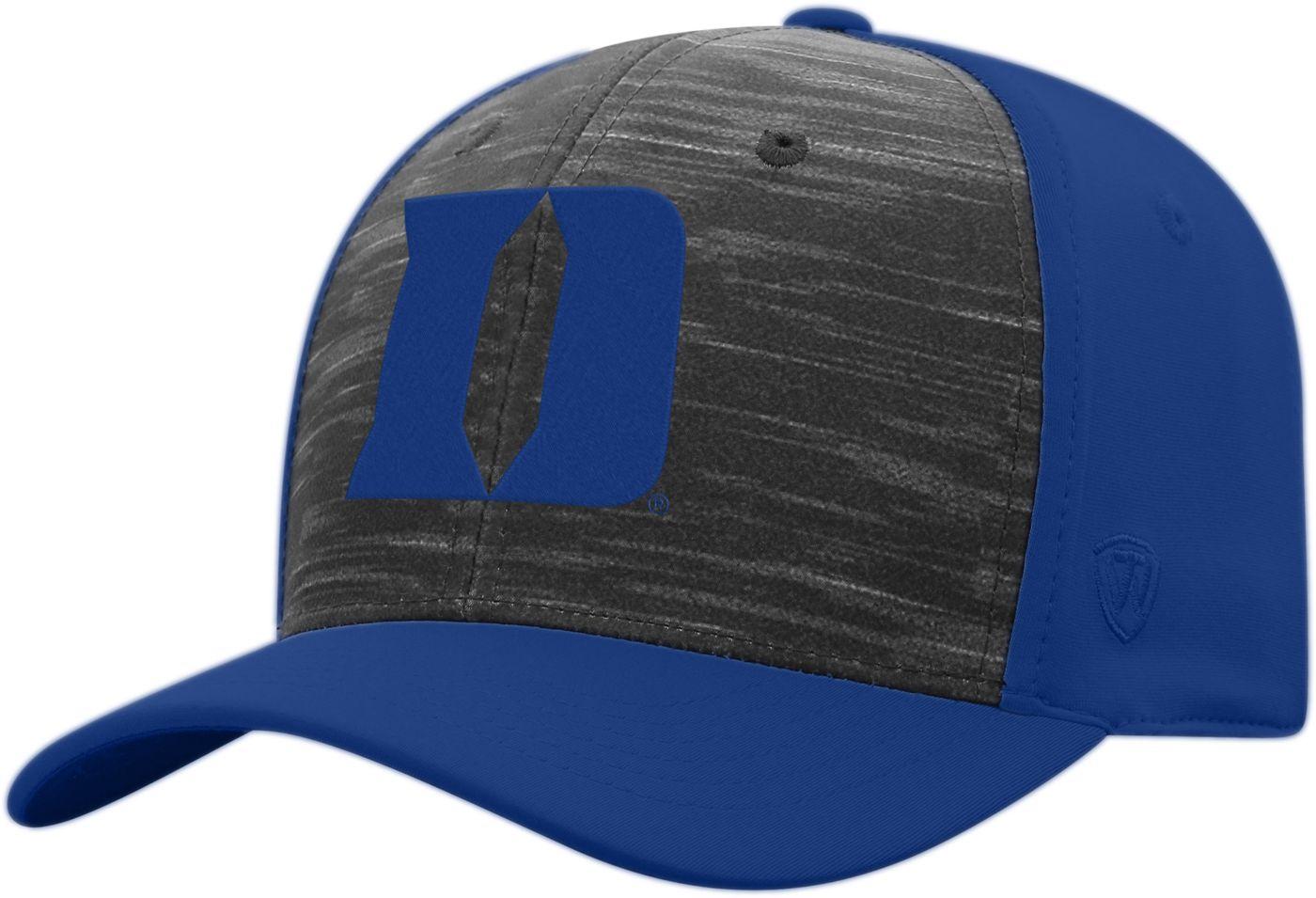 Top of the World Men's Duke Blue Devils Grey/Duke Blue Pepper 1Fit Flex Hat