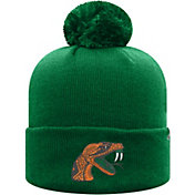 Top of the World Men's Florida A&M Rattlers Green Pom Knit Beanie