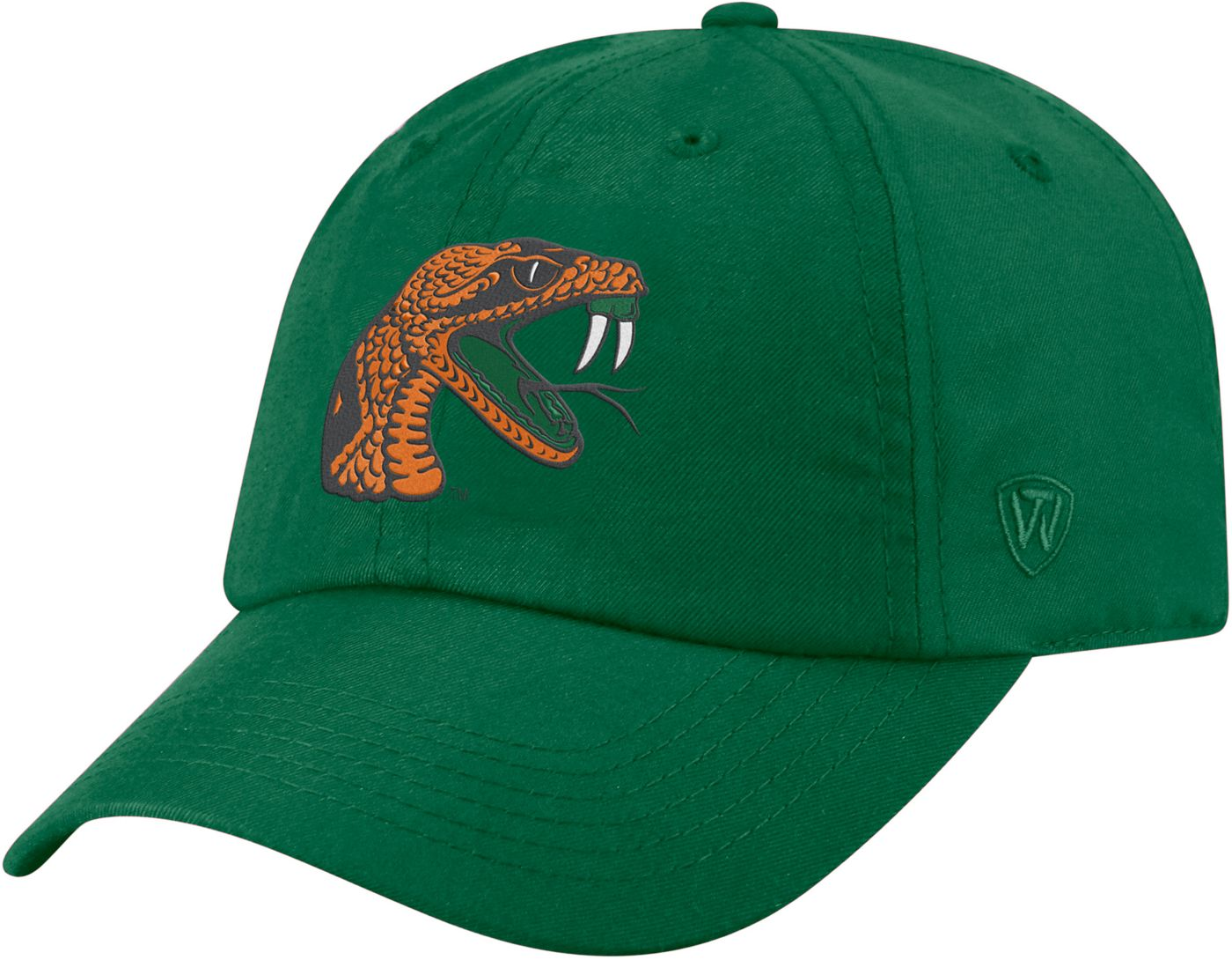 Top of the World Men's Florida A&M Rattlers Green Staple Adjustable Hat