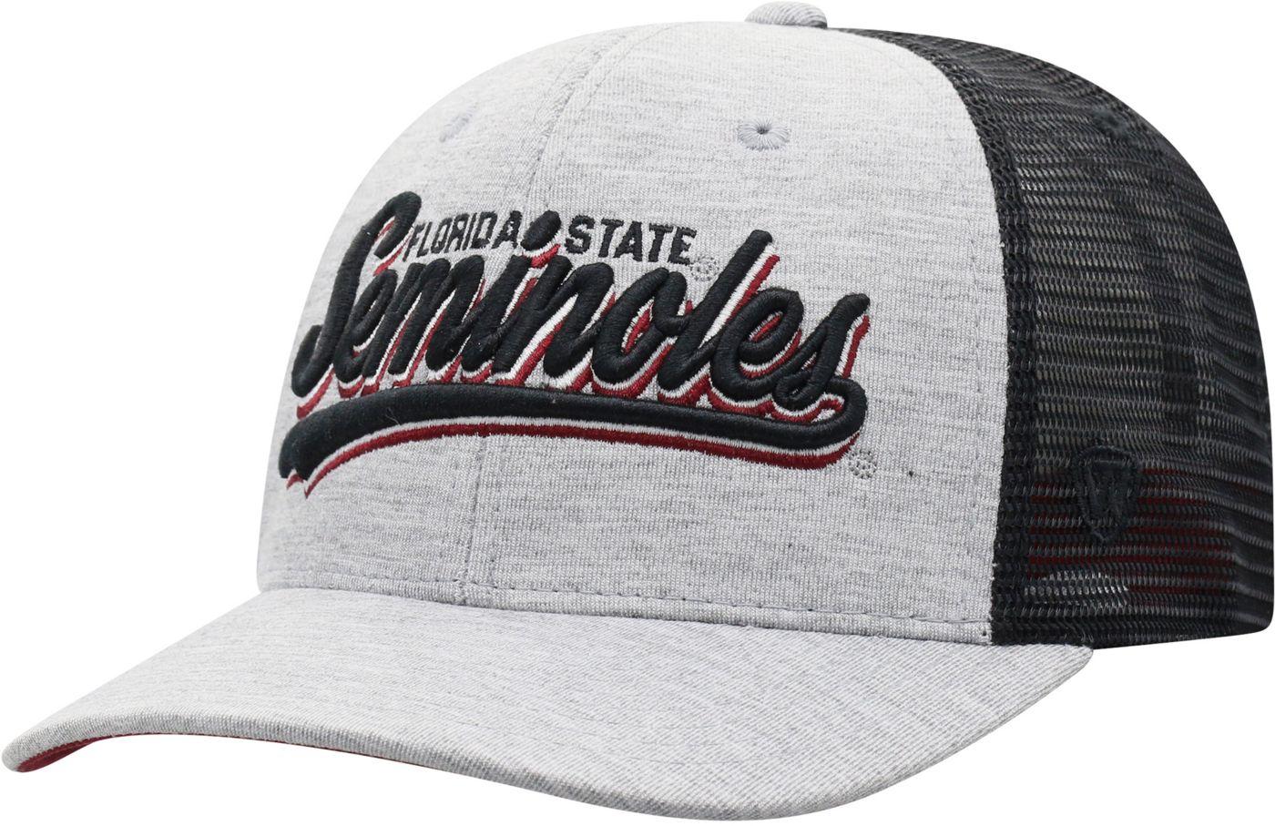 Top of the World Men's Florida State Seminoles Grey/Black Cutter Adjustable Hat