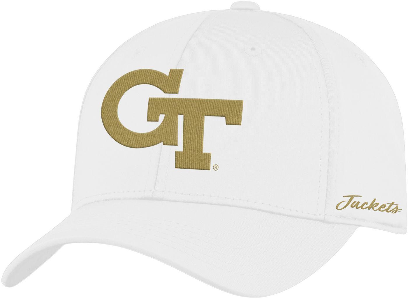 Top of the World Men's Georgia Tech Yellow Jackets Phenom 1Fit Flex White Hat