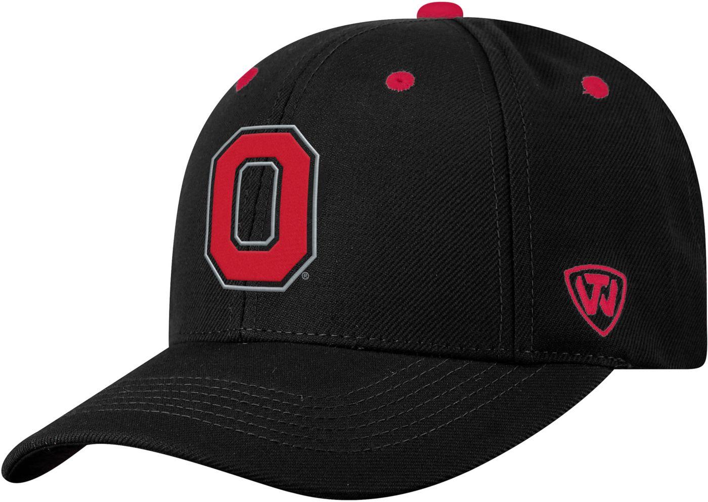 Top of the World Men's Ohio State Buckeyes Triple Threat Adjustable Black Hat