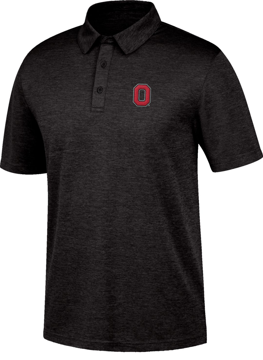 Scarlet & Gray Men's Ohio State Buckeyes Carbon Black Polo
