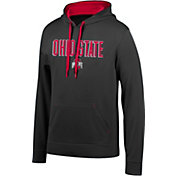 Scarlet & Gray Men's Ohio State Buckeyes Foundation Poly Black Hoodie