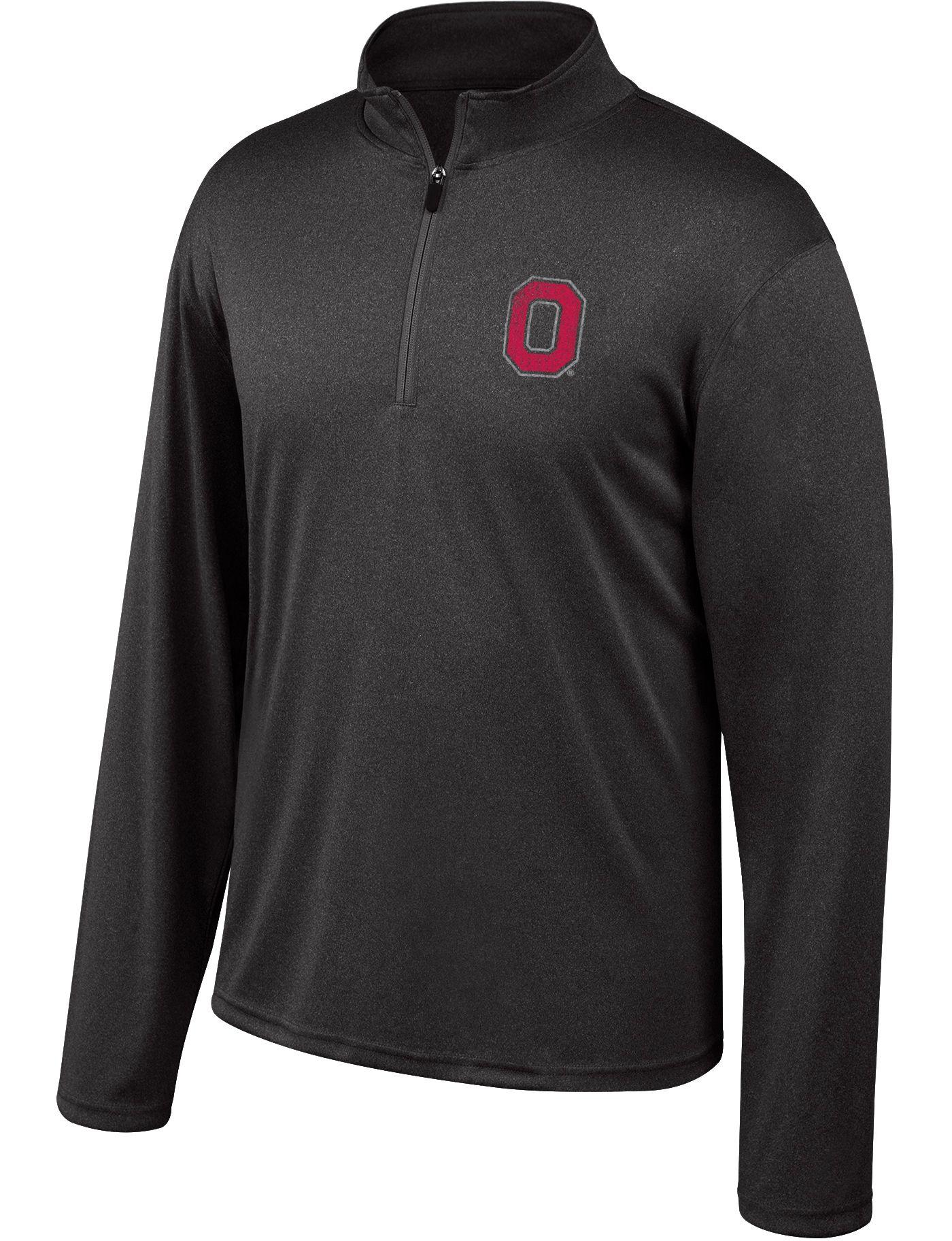 Scarlet & Gray Men's Ohio State Buckeyes Quarter-Zip Black Shirt