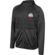 Scarlet & Gray Men's Ohio State Buckeyes Infusion Full-Zip Hooded Black Jacket