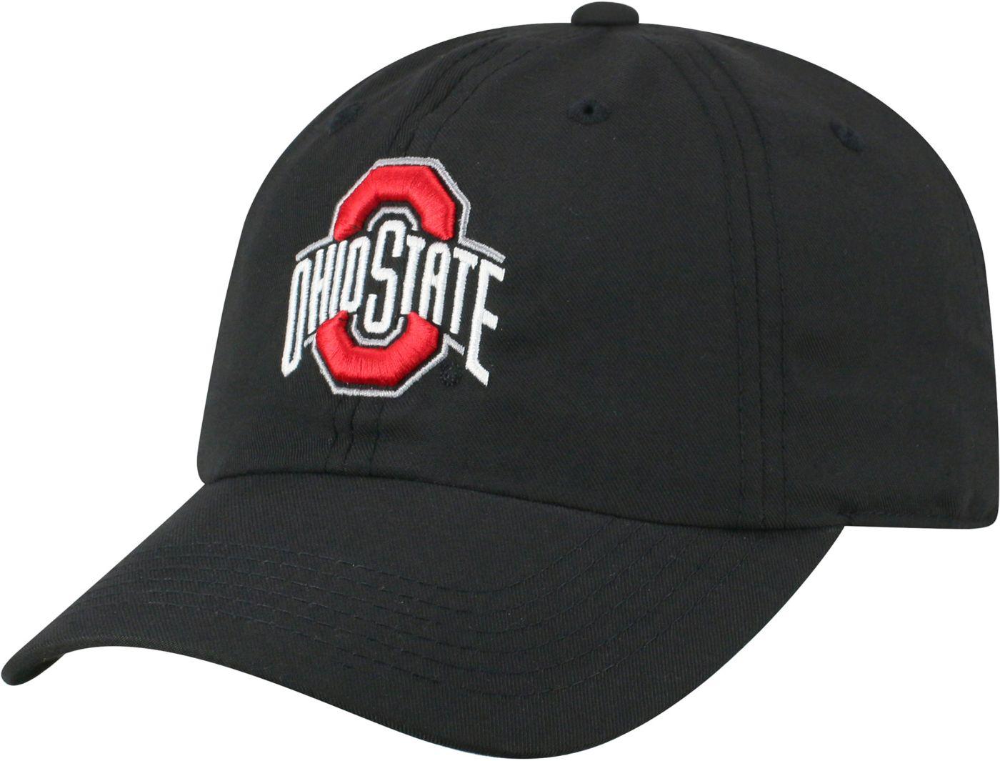 Top of the World Men's Ohio State Buckeyes Staple Adjustable Black Hat