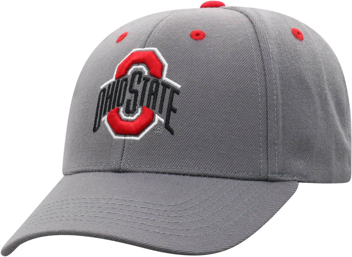 Top of the World Men's Ohio State Buckeyes Grey Triple Threat Adjustable Hat