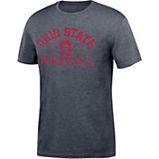 Scarlet & Gray Men's Ohio State Buckeyes Gray Distressed Chrome T-Shirt