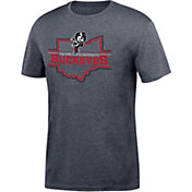 Scarlet & Gray Men's Ohio State Buckeyes Gray Chrome State T-Shirt