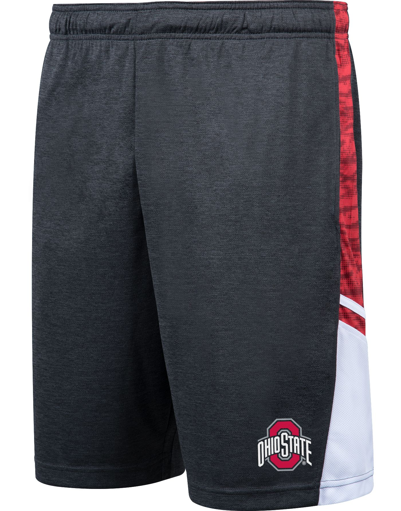 Scarlet & Gray Men's Ohio State Buckeyes Gray Panel Shorts