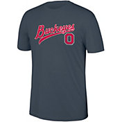 Scarlet & Gray Men's Ohio State Buckeyes Gray Heritage Tri-Blend Script T-Shirt