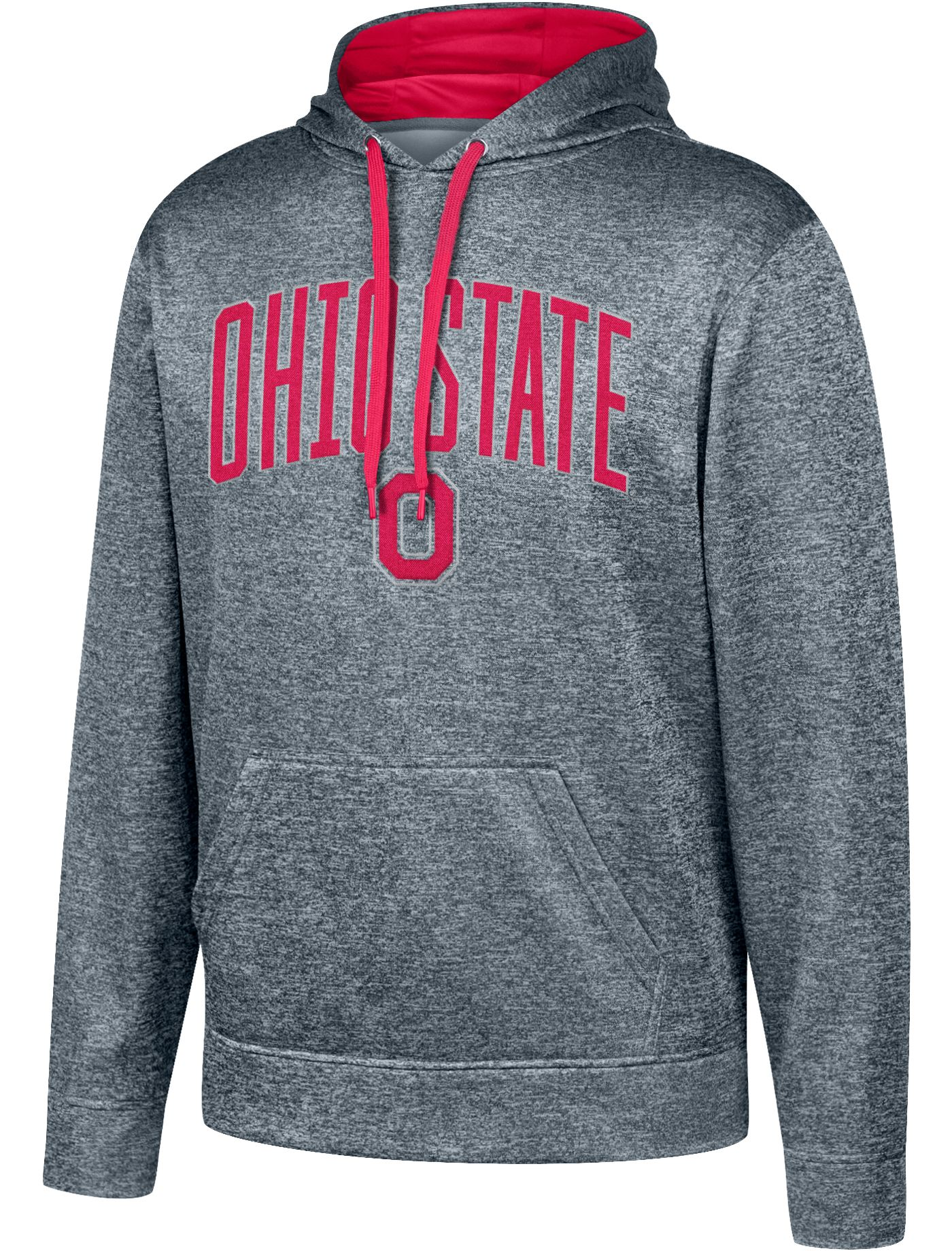 Scarlet & Gray Men's Ohio State Buckeyes Gray Foundation Poly Hoodie