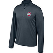 Scarlet & Gray Men's Ohio State Buckeyes Gray Quarter-Zip Shirt